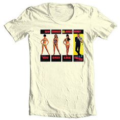 eeaffc46c James Bond Girls 007 T shirt You Only Live Twice 60's pinup girls graphic  tee. Vintage HorrorRetro ...