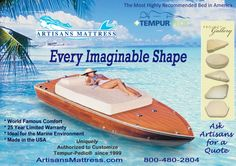 Artisans Custom Mattress, Inc Custom Mattress, Yacht World, Marine Environment, Brochure Cover, Magazine Ads, Mattresses, Advertising Campaign, Hanging Out, Marines