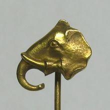 Laura's lifeintheknife on Ruby Lane: Antique Art Nouveau 10K Gold Elephant Stick Pin