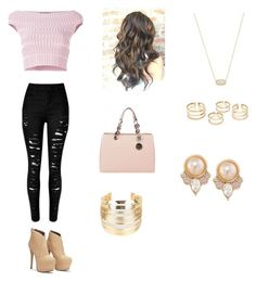 """""""Untitled #115"""" by haterz18 on Polyvore featuring Alexander McQueen, MICHAEL Michael Kors, Kendra Scott, Carolee and WithChic"""