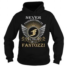 I Love Never Underestimate The Power of a FANTOZZI - Last Name, Surname T-Shirt T-Shirts