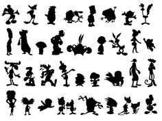 Cartoon Silhouettes. Can you identify all of them?