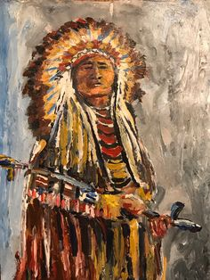 Excited to share this item from my #etsy shop: Sitting Bull #hunkpapaleader American Indian Art, Native American Art, Native Art, Canvas Art Prints, Canvas Wall Art, Cute Paintings, Acrylic Paintings, Oil Paintings, Sitting Bull