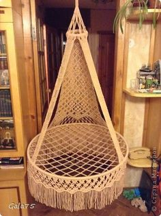 How to make suspended chair hammock in macrame technique