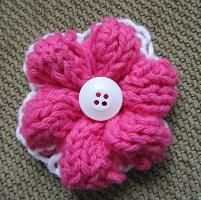 Knitting : Simple Knit Flower