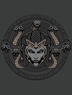 The Gorgon Go ahead, gaze upon this Smite tee. Nothing bad will happen, we promise. The real visage of Medusa, however, would be a different story, but this 100% cotton goodness won't be turning anyon