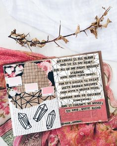 Poetry + art journaling // diy craft white aesthetics inspiration ideas for Art Journal Pages, Poetry Journal, My Journal, Art Journals, Visual Journals, Artist Journal, Organisation Journal, Citation Photo Insta, Noor Unnahar