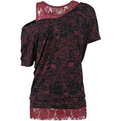 Skull & Roses Double Layer - T-paita - Black Premium by EMP