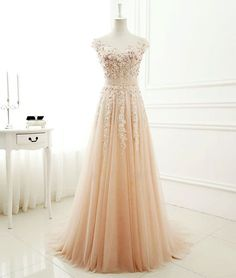 Sparkly Prom Dress, New Arrival a-line round neck tulle lace long prom dress, evening dress, These 2020 prom dresses include everything from sophisticated long prom gowns to short party dresses for prom. Prom Dresses 2017, A Line Prom Dresses, Tulle Prom Dress, Lace Dress, Formal Dresses, Tulle Lace, Long Dresses, Maxi Dresses, Evening Dress Long