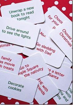 Christmas Countdown Ideas ~ Do One Idea Each Day During December