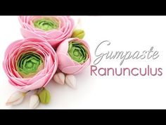 [ENG SUB] How to make buttercup flowers with wafer paper/ Ranunkel-Tutorial aus Esspapier - YouTube