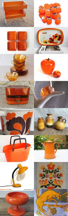 Orange french vintage by Laurent Poitou on Etsy--Pinned with TreasuryPin.com