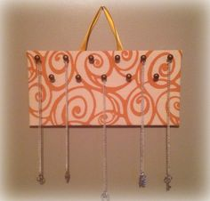 Handmade necklace holder by Redesign on a Dime
