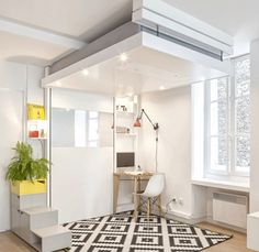2 | A Space-Saving Bed That Lowers From The Ceiling | Co.Design | business + design