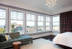 Dress up picture windown -- Pacific Ave Master Bedroom contemporary bedroom  WINDOW DESIGN