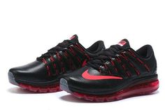 Nike Air Max 2016 Black Red Leather [nikeairmax2016-056] - $65.98 : | i like running | Scoop.it