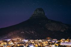 Cape Town by Adam Rozanski on bay town head exposure africa breach Stand Tall, Cape Town, Lions, Mount Everest, City Landscape, Long Exposure, Mountains, South Africa, Nature