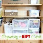 Organizing a Gift Closet ~ Day #29