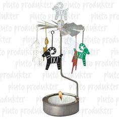"""Goat-Julbock Party Chime Party - 5 1/2"""" - tealight candle included. https://scandinavianshoppe.americommerce.com/store/c/32-Candles-Holders-Rings-Decor.html"""