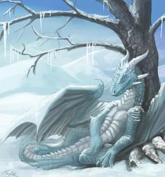 A dragon for his friend, a ice blue dragon tacking a Nap in a icy environment. Description from deviantart.com. I searched for this on bing.com/images
