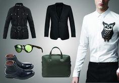 Fashion Selection n°7 : Belstaff jacket, Burberry shirt, DeFursac suit, Heschung shoes, Alfred Dunhill bag, Ralph Lauren glasses : http://bewaremag.com/2012/09/30/selection-mode-7/