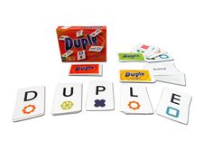 Duple Card Game.  From the makers of Anomia, another clever, quick-thinking game of symbol matching and word finding.  For 3-6 players.  Fun for the whole family!