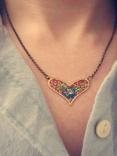 Vintage Heart Necklace VI $22