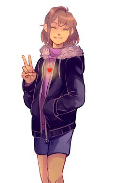 yusaname:  Teenage Frisk inspired by paychiri's grown up au!