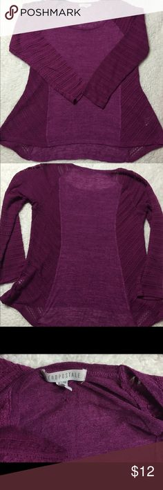 Aeropostale Lightweight lace shirt (SANGRIA PURPLE) Lightweight shirt with laced sides and sleeves from aeropostale. Aeropostale Tops