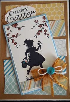 Easter Card using retired Stampin! Up! stamp set and bits and pieces from my stash.