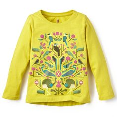 Bolivian Birds Graphic Tee | The colorful bird graphic on this tee is inspired by the vibrant and elaborately detailed tapestries of South America.