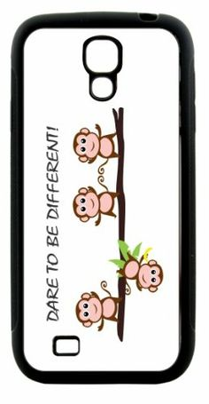Rikki KnightTM Dare To Be Different Monkeys Design Samsung® Galaxy S4 Case Cover (Black Hard Rubber TPU with Bumper Protection) for Samsung Galaxy S4 Rikki Knight LLC,http://www.amazon.com/dp/B00H3Y4XAE/ref=cm_sw_r_pi_dp_KLM0sb1Y5WAY9Y3J