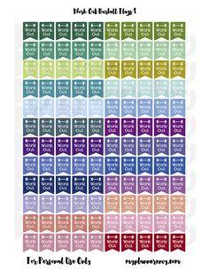 My Planner Envy: Barbell Banner Flags - Free Planner Printable