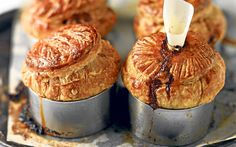 Hot Venison Pies with a Buttery Puff Pastry Crust