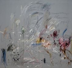 Cy Twombly. School of Athens, 1964, Rome. Oil paint, wax crayon, and lead pencil on canvas