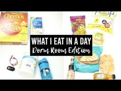 What I eat in a Day (For Weight Loss) Dorm Room Edition! Click the image to watch the video + healthy snack ideas for students! //      Visit: www.themakaylalynn.com for college-related blog posts.