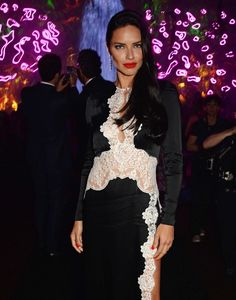Adriana Lima at Chopard's Cannes 2016 party.