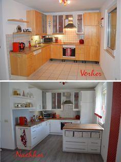 ENDLICH!: neue alte Küche mit Kreidefarbe | Küchenschränke ...
