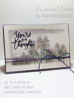 Thoughful Branches Bundle - Available while stocks last! Visit site for more details- Vanessa Webb Stampin' Up! Demonstrator Australia