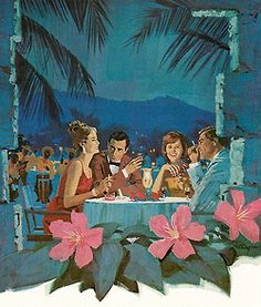 Moonlight Dining - detail from 1963 Tia Maria ad.