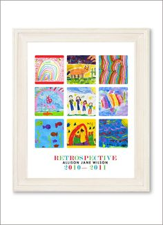 Simply Create Kids — Children's Artwork Display—small poster with 9 works of art