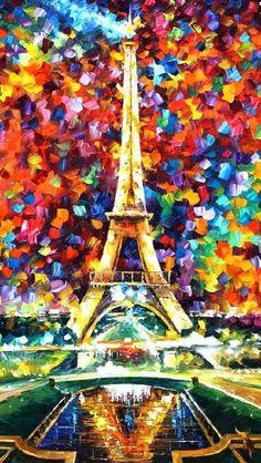 Very beautiful Eiffel Tower painting