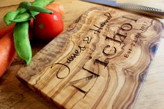 Personalised Olive Wood Chopping Cheese Board - In Two Sizes