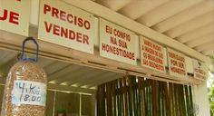 Conheça barraquinha de produtos orgânicos sem vendedor em Delfim Moreira (MG)