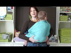 PAXbaby Ring Sling demo with a Toddler!!! - YouTube