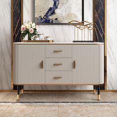 Sideboard Dekor, White Sideboard Buffet, Credenza Decor, Sideboard Modern, Black Buffet, Sideboard Cabinet, Kitchen Sideboard, Wood Buffet, Cabinet Storage