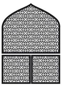 Sticker mural velours décor Arabic Window format XL