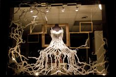 Shop Peppermint 'Skeleton In the Closet' windows by Melissa Murphy, New York City