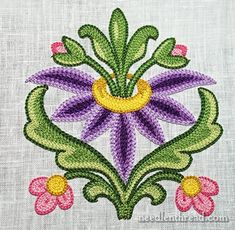 Tambour Embroidered Flower: Finished & Materials List Tambour Embroidery: Flower Practice Piece: www.needlenthread… The post Tambour Embroidered Flower: Finished & Materials List appeared first on Beautiful Shared. Bordado Jacobean, Bordados Tambour, Jacobean Embroidery, Tambour Embroidery, Embroidery Needles, Flower Embroidery, Hand Embroidery Tutorial, Hand Embroidery Designs, Embroidery Patterns