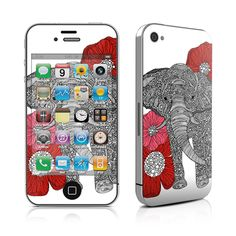 iPhone 4 Skin - The Elephant by Valentina Ramos